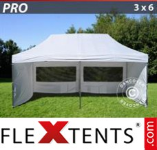 Folding canopy PRO 3x6 m White, incl. 6 sidewalls