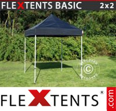 Folding canopy Basic, 2x2 m Black