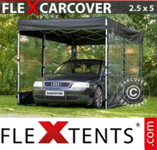 Folding canopy FleX Carcover, 2,5x5m, Black