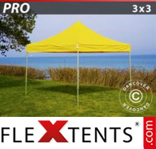 Folding canopy PRO 3x3 m Yellow