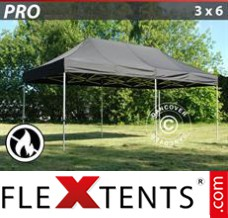 Folding canopy PRO 3x6 m Black, Flame retardant