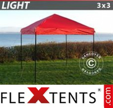 Folding canopy Light 3x3 m Red