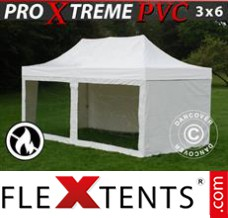 Folding canopy Xtreme Heavy Duty 3x6 m White, incl. 6 sidewalls