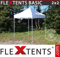 Folding canopy Basic, 2x2 m White