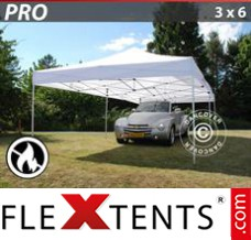 Folding canopy PRO 3x6 m White, Flame retardant