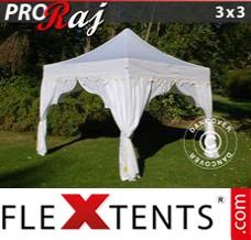 "Folding canopy PRO ""Raj"" 3x3 m White/Gold"