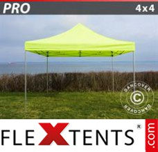 Folding canopy PRO 4x4 m Neon yellow/green