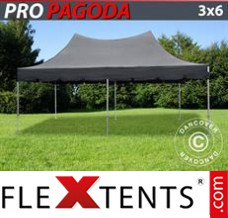 Folding canopy PRO Peak Pagoda 3x6 m Black