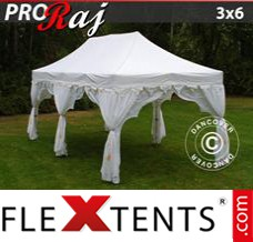 "Folding canopy PRO ""Raj"" 3x6 m White/Gold"