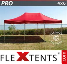 Folding canopy PRO 4x6 m Red