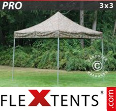 Folding canopy PRO 3x3 m Camouflage/Military