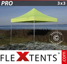 Folding canopy PRO 3x3 m Neon yellow/green