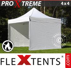 Folding canopy Xtreme 4x4 m White, incl. 4 sidewalls