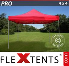 Folding canopy PRO 4x4 m Red
