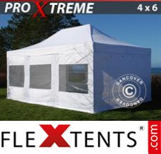 Folding canopy Xtreme 4x6 m White, incl. 8 sidewalls