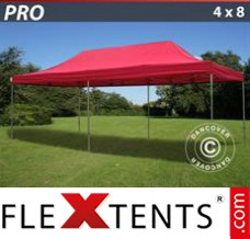 Folding canopy PRO 4x8 m Red
