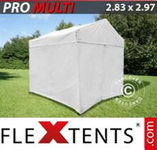 Folding canopy Multi 2.83x2.97 m White, incl. 4 sidewalls