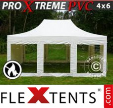 Folding canopy Xtreme Heavy Duty 4x6 m White, incl. 8 sidewalls