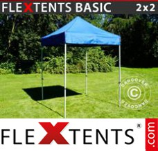 Folding canopy Basic, 2x2 m Blue