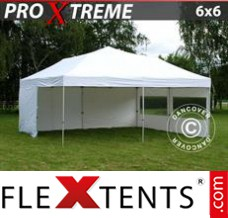 Folding canopy Xtreme 6x6 m White, incl. 8 sidewalls
