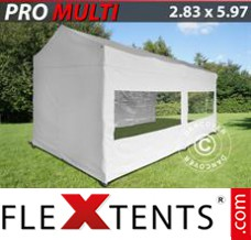 Folding canopy Multi 2.83x5.87 m White, incl. 6 sidewalls