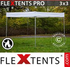 Folding canopy PRO Exhibition 3x3 m White, Flame Retardant