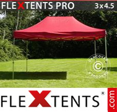 Folding canopy PRO 3x4.5 m Red