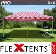 Folding canopy PRO 3x6 m striped