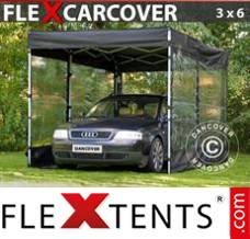 Folding canopy FleX Carcover, 3x6 m, Black