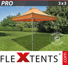 Folding canopy PRO Work tent 3x3 m Orange Reflective