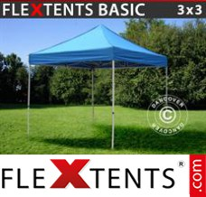 Folding canopy Basic, 3x3 m Blue