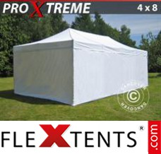 Folding canopy Xtreme 4x8 m White, incl. 6 sidewalls
