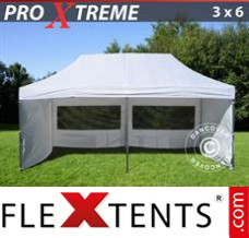 Folding canopy Xtreme 3x6 m White, incl. 6 sidewalls