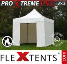 Folding canopy Xtreme Heavy Duty 3x3 m White, Incl. 4 sidewalls