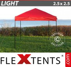 Folding canopy Light 2.5x2.5 m Red