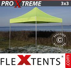 Folding canopy Xtreme 3x3 m Neon yellow/green