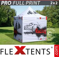 Folding canopy PRO with full digital print, 2x2 m, incl. 4 sidewalls