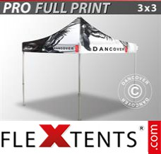 Folding canopy PRO with full digital print, 3x3 m