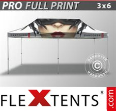 Folding canopy PRO with full digital print, 3x6 m