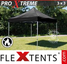 Folding canopy Xtreme 3x3 m Black, Flame retardant