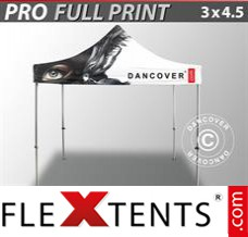 Folding canopy PRO with full digital print, 3x4.5 m