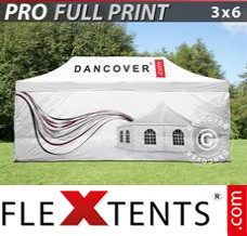 Folding canopy PRO with full digital print, 3x6 m, incl. 4 sidewalls