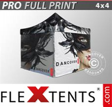 Folding canopy PRO with full digital print, 4x4 m, incl. 4 sidewalls