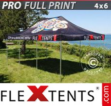 Folding canopy PRO with full digital print, 4x6 m