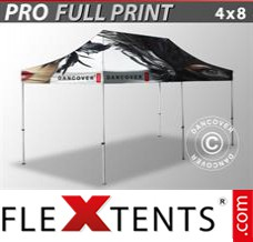 Folding canopy PRO with full digital print, 4x8 m