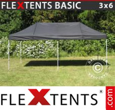 Folding canopy Basic, 3x6 m Black