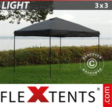 Folding canopy Light 3x3 m Black