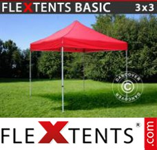 Folding canopy Basic, 3x3 m Red