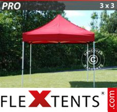 Folding canopy PRO 3x3 m Red