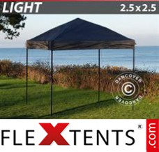 Folding canopy Light 2.5x2.5 m Black